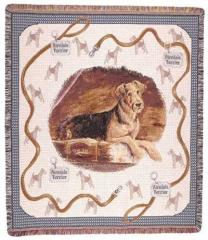Airedale Terrier Dog Throw
