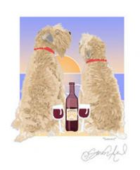 Soft Coated Wheaten Sunset Dogs