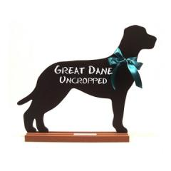 Great Dane (Uncropped) Dog Breed Chalkboard