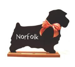 Norfolk Terrier Dog Chalkboard