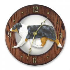 Australian Shepherd Dog Wall Clock