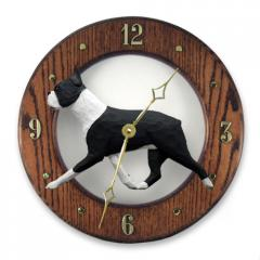 Boston Terrier Dog Wall Clock