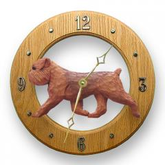 Brussels Griffon, Natural - Dog Wall Clock