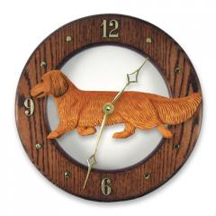 Dachshund, Long Hair - Dog Wall Clock