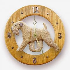 Soft Coated Wheaten Dog Wall Clock