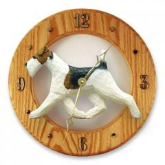Wire Fox Terrier Dog Wall Clock