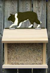 Border Collie Dog Bird Feeder