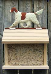 Irish Red and White Setter Dog Bird Feeder