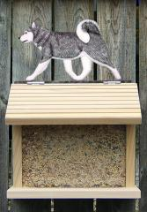 Siberian Husky Dog Bird Feeder