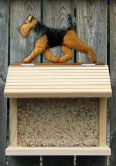 Welsh Terrier Dog Bird Feeder