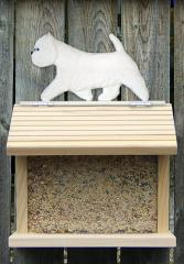 West Highland Terrier Dog Bird Feeder