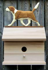 Beagle Dog Bird House - Red/White
