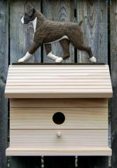 Boxer, Natural - Dog Bird House