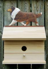 Collie Dog Bird House
