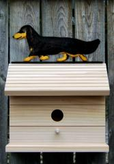 Dachshund, Long Hair - Dog Bird House