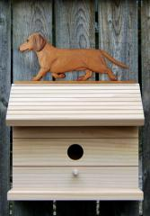 Dachshund, Smooth Hair - Dog Bird House