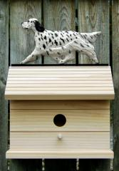 English Setter Dog Bird House