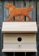 Golden Retriever Dog Bird House