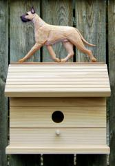 Great Dane Dog Bird House