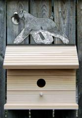 Schnauzer, Natural Dog Bird House