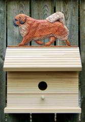 Tibetan Spaniel Dog Bird House