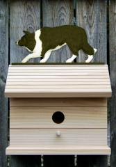 Border Collie Dog Bird House