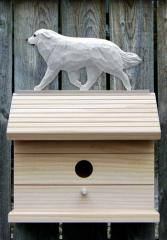 Great Pyrenees Dog Bird House