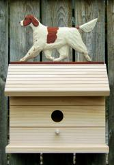 Irish Red and White Setter Dog Bird House