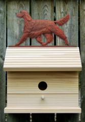 Irish Setter Dog Bird House
