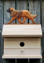 Leonberger Dog Bird House