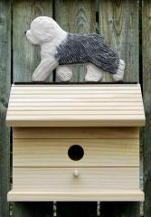 Old English Sheepdog Dog Bird House