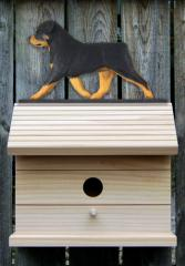 Rottweiler Dog Bird House