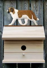 Saint Bernard Dog Bird House