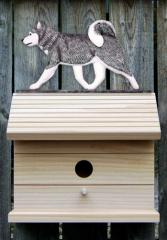 Siberian Husky Dog Bird House