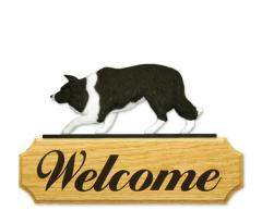 Border Collie Dog Welcome Sign