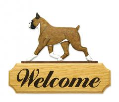 Boxer Dog Welcome Sign