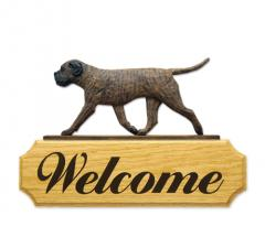 Bullmastiff Dog Welcome Sign