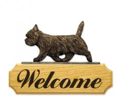 Cairn Terrier Dog Welcome Sign