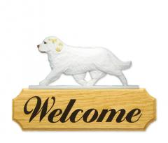 Clumber Spaniel Dog Welcome Sign