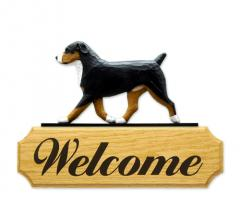 Entlebucher Dog Welcome Sign