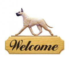Great Dane Dog Welcome Sign