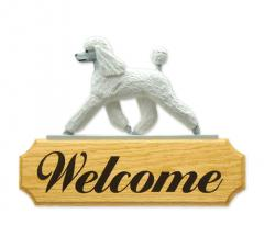Poodle Dog Welcome Sign