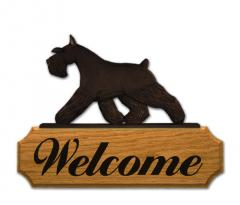 Schnauzer, Miniature Dog Welcome Sign