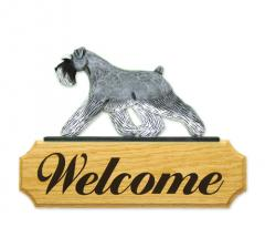 Schnauzer, Natural Dog Welcome Sign