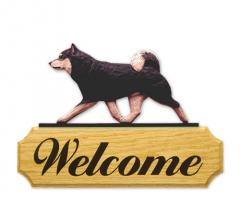 Shiba Inu Dog Welcome Sign