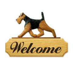 Welsh Terrier Dog Welcome Sign