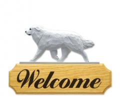 Great Pyrenees Dog Welcome Sign