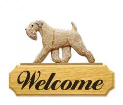 Soft Coated Wheaten Dog Welcome Sign