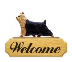 Yorkshire Terrier Dog Welcome Sign
