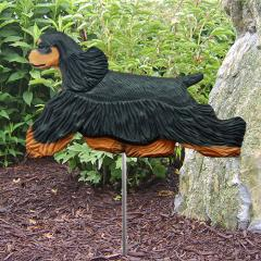 Cocker Spaniel (Black/Tan) Garden Stake